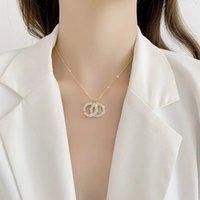 Luxurys 디자이너 펜던트 목걸이 럭셔리 여성의 칭하이오 더블 서클 로고 3 색 선물 클래식 목걸이 좋은 좋은