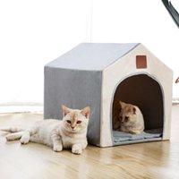 2021 Nova cama pequena para a malha externa do cão 40 * 45 * 42 cm portátil dobrável na casa respirável casa de animal de estimação com rede Qeua