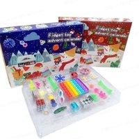 24 stücke Weihnachten Zappel Spielzeug Blind Box Party Adventskalender für Mädchen Jungen Kinder Erwachsene Überraschung Relief Stress Count Down Urlaub