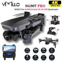 Vimillo New SG907 Pro 5G WIFI GPS-Drohne mit 4k HD-Kamera Ein Tastenrücklauf Auto Folgen Sie dem Flug RC Quadcopter mit Kamera vs SG907