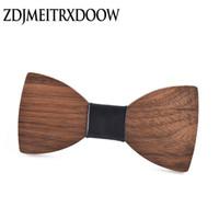 Yay Ties Wenge Ahşap Kravat Erkekler Için Klasik Ahşap Bowties Boyunbağı Yaratıcı El Yapımı Kelebek Gravata Corbatas Seda