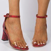Moda Kadın Ayakkabı Peep Toe PVC Şeffaf Topuk Takozlar Yüksek Topuklu Sandalet Üretler Çapraz Kayış Dantel-Up Pompaları 2021 NMU7