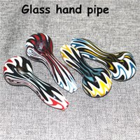Glass Oil Burner Pipe Pyrex Glas Spoon Hand Tobacco Pipes For Smoking Accessories Silicone handpipe dab rig