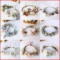 CC Wreath Women Hair Accessories Wedding Flower Hairbands Engagement Jewelry Bridal Crown 100% Handmade Garland Leaf Party 58377