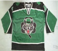 Custom 2020 Chicago Wolves Hockey Jersey Embroidery Stitched Customize any number and name Jerseys