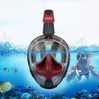2021 Nouveau masque de plongée de plongée en apnée professionnelle sous-marine Scuba anti-brouillard masque de bain respirant pour hommes femmes déposer expédition