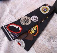 Impresión de moda Pequeño rectángulo bufanda diadema marca seda bufandas hembra puede para bolsos
