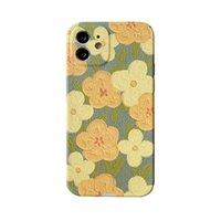 Funda protectora de telefonía móvil Huawei de flores amarillas retro para P40 Fashion Soft Shell iP12Mini / 11pro caja del teléfono móvil para 8plus / XR