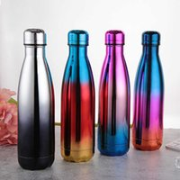Water Bottles Stainless Steel 17oz Double Wall Insulated Cola Shape for Cold and Warm Drinks BPA Free Metal Sports Bottle 1UOM