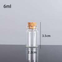 6ML 22x35x12.5mm Небольшие мини-чистые стеклянные бутылки банки с пробкой / сообщением Свадьбы Желание ювелирных изделий