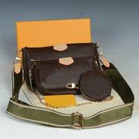 M44840 MULTI POCHETTE Acessórios Sacos de ombro Mulheres Crossbody 3 Pcs Moda Luxurys Designers Evening Bag 2021