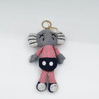 New creative clay diamond inlaid Sesame Street doll Pendant kaws key chain bag doll Pendant Gift