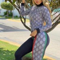 여성의 tracksuits 브랜드 겨울 젊은 아가씨 스포츠 편안한 패션 여성 디지털 인쇄 캐주얼 두 조각 팬츠와 지퍼 자 켓 세트