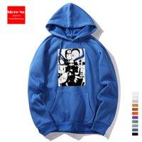 Cool pulôver desenhos animados hoodie moletom cinzento hoodie preto hoodie alien vestuário anime homens japoneses mulheres