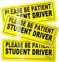 Magnete del conducente dello studente Magnete Segnale di sicurezza del veicolo Magnete del paraurti - Auto Autoadesivo del segno riflettente del veicolo per i nuovi driver