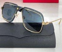 0243 Yeni Popüler Güneş Gözlüğü Erkekler Metal Ve Metal Arms Ile Kare Güneş Gözlüğü Basit Rahat Tarzı Gözlük UV 400 Koruma Paket ile Gönder