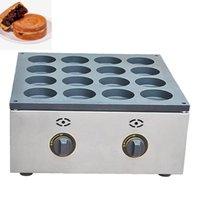 2800PA Red Bean Cake Maker Comercial Waffle Maker Gas Huevos Asados Hamburguesa Máquina Accesorios de cocina 16 Agujeros