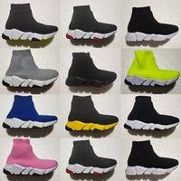 Носка младенческой скорости Детские кроссовки Baby Flat Pult на Toddler кроссовки насосы Trainers черные белые розовые мальчики девушки бегуны спортивные ботинки