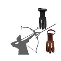 Archery Protect قفاز 3 أصابع سحب القوس السهم الجلود اطلاق النار قفازات انخفاض الشحن 218 X2