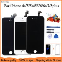 LCD Display For iPhone 6 7 8 6S Plus Touch Screen Replacement For iPhone 5 5C 5S SE No Dead Pixel+Tempered Glass+Tools+TPU