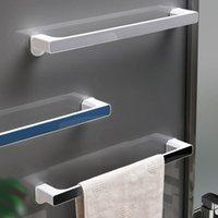 Towel Racks 1PC Self-adhesive Holder Rack Wall Hanger Bathroom Bar Shelf Roll Hanging Hook Organizer