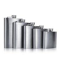 Mini paslanmaz çelik şarap şişesi 4 oz / 5 oz / 6 oz / 7 oz / 8oz kalça şişeleri taşınabilir seyahat viski alkol şişesi likör şişeleri