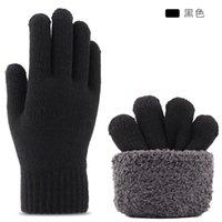 Iwarm новый теплый сенсорный экран вязаные перчатки мужская зима утолщенная нескользящаяся шерсть оптом холодная