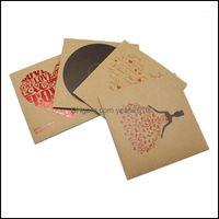 Gift Event Festive Supplies Home & Gardengift Wrap 12.5X12.5Cm 280Pcs Lot Brown Kraft Paper Cd Case Bag Party Favor Cd Dvd Envelopes Natural
