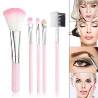 Makeup Brushes 5Pcs set Women Girl Brush Set Tools Eye Shadow Powder Eyebrow MA