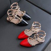 Neue römische Schuhe Mädchen Sandalen Kinder Lederschuhe Kinder Nieten Freizeit Sneakers Hot Girls Prinzessin Dance Schuhe