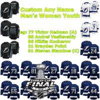 2021 Stanley Cup Final Tampa Bay Lightning Ice Hockey Jerseys Mathieu Joseph Jersey Barclay Goodrow Ondrej Palat Alex Killorn Ryan McDonagh Custom Steinsted