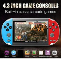 4.3 inch Video Game Console X7 GBA Gamepad 8GB Double Rocker Dual Joystick Arcade Retro Games Consoles Portable Handheld MP5 Player