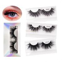 25-27mm 3D Peaches de visón Fuzzy Curl Falso Eyelashes 5D Mink Theses Suave Extensión Maquillaje Falso Ojo Lestes 8D Fuzzy Dramatic Lajas