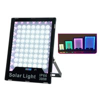Solar RGB Flood Lights Lamps 60W-400W LED Color Changing Outdoor Security Floodlight Wall Light Waterproof IP65 Spotlight with Remote Control usalight