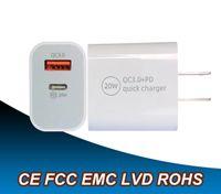 SANT 20W Högkvalitativ typ C USB-väggladdare Fast Laddning Kompakt nätadapter PD QC3.0 med CE FCC RoHS ETL