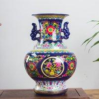 Jingdezhen antique ancienne émail chinois en céramique chinois vase maison bureau décoratif Vases de porcelaine décorative