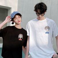 JC1J Liebhaber Sommer 2021 Women'scoat T-Shirt Top Trend Casual Kurzarm T-Shirt Lose Top und koreanische Halbhülseanzug