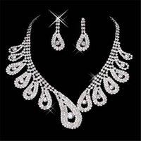 15042 مثير الرجال الماس المجوهرات قلادة حزب حفلة موسيقية مجوهرات الزفاف الرسمي مجموعة اكسسوارات الزفاف في المخزون