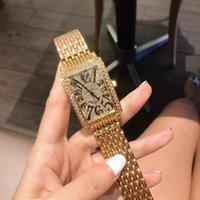 2020 Новые Прибытие Роскошные Мужские Часы Кварцевые Часы Дизайнер Часы Diamond Bezel Steel Ремешок Фрэнк Часы Мода Аксессуары для дам