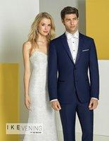 men wedding suits for groom wear blue tuxedo slim fit custom made 2021