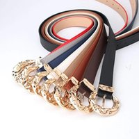 Belts Contracted Trend Big Head PU Leather Jeans Waistband Waist Wide Belt Trouser