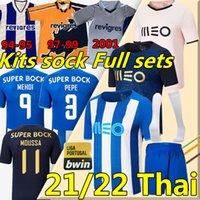 2021 2022 Porto Soccer Jerseys Pepe Moussa Sérgio Oliveira Mehdi Luis Díaz Matheus Evanilson Fotbollskjorta Retro Jersey 1994 95 97 99 00 01 Män + Kids Kit Uniforms