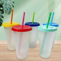 cups set of 5 clear plastic tumbler cup plastic water bottle drink bottles with lid and straw