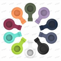AirTags Loop Silicone Case Protective Cover Shell with Key Ring for Apple Airtag Smart Bluetooth Wireless Tracker Anti-lost tracking