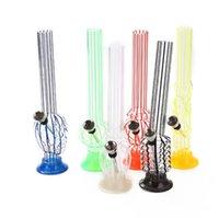 Plastik Akrilik Nargile Bong Sigara Su Borusu Tütün Herb Sigara Filtresi El Borular 210mm Shisha Aracı Aksesuarları Bubbler
