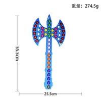 55,5 cm doppel ax axt prop fidget spielzeug riesige große push blase sensory stress entlastung anti ängstlich weihnachtsgeschenk kinder familienspiele rra9136