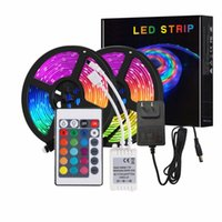 Strips 5M LED RGB Rainbow Color Lights Bar Infared Sensor Control Waterproof For Living Room TV Background