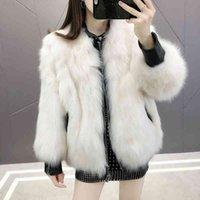 Lucyever High Quality Faux Fur Coat for Women New Winter Warm Fox Fur Leather Jackets Woman Fashion Trendy Zipper Overcoats