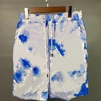 Mens de verão solto casual moda shorts impressão colorida respirável e confortável desgaste desgaste colhido calças