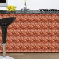 30 * 30 cm 3D Duvar Kağıdı DIY Tuğla Taş Kendinden Yapışkanlı Su Geçirmez Duvar Kağıdı Mutfak Banyo Oturma Odası Kiremit Çıkartmalar Yenileme 633 S2